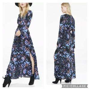 NWT Express Boho Paisley Print Maxi Dress